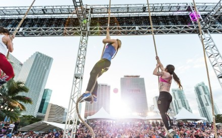 Athletes climb the ropes at Wodapalooza. Photos: CrossFit Games