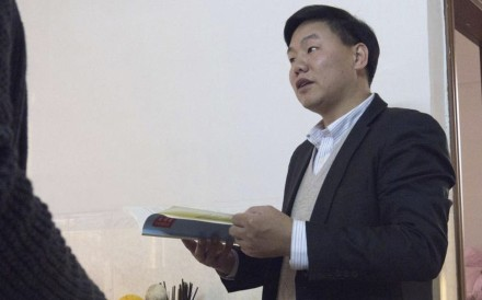 Activist Zhang Zhiru was arrested in Guangdong province on Sunday. His ex-wife said the family would try to see him once they had received official notification. Photo: Handout