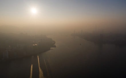 A blanket of haze covers Hong Kong on December 26 last year. Photo: AFP