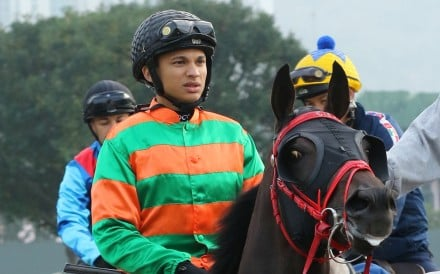 Grant van Niekerk rides Heavenly Thought in a recent barrier trial at Sha Tin. Photos: Kenneth Chan