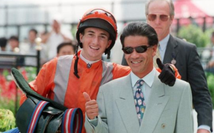 Jockey Douglas Whyte (left) and trainer Tony Cruz celebrate a winner back in 1997. Photo: SCMP