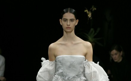 """Loewe creative director JWAnderson later explained that the darkness symbolised the uncertainties the Loewe heroine faced after the past few seasons.The show notes elaborated: """"The dislocating..."""