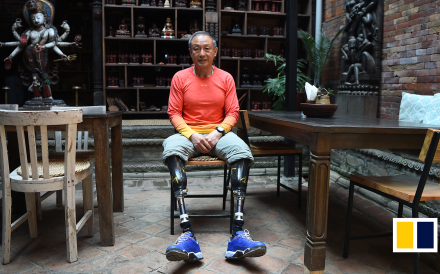 A 69-year-old Chinese climber who lost both his legs is making his fifth bid to climb Everest after Nepal's top court overruled a government ban on blind people and double amputees from attempting...