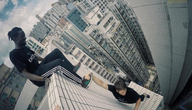 Hong Kong Parkour Freerunners Storror Leap Buildings