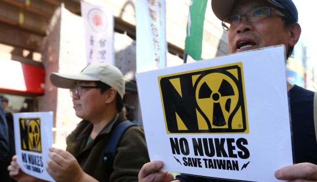 Taiwanese protesters rally for 'nuclear-free' island