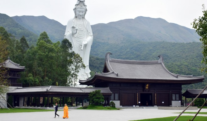The Tang dynasty-style Tsz Shan Monastery, which can accommodate about 400 to 500 visitors every day, is fully funded by Li Ka-shing.