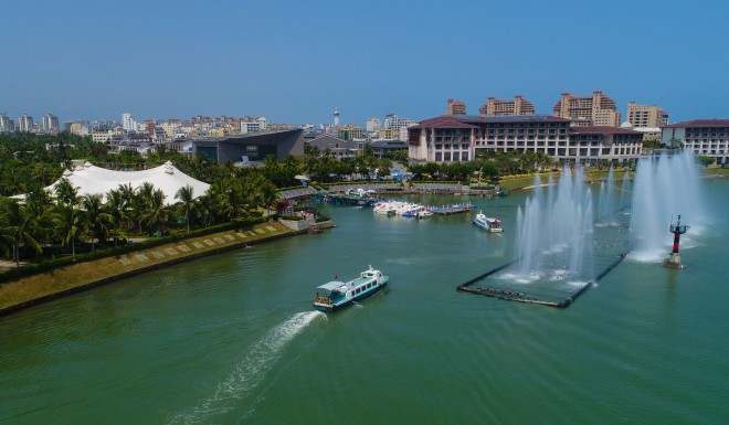 The forum is being held on the tropical island of Hainan, known as 'China's Hawaii.'