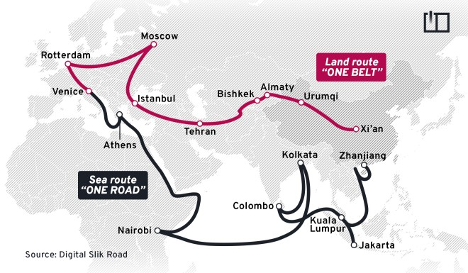 """The """"Belt and Road Initiative"""" is a bit confusing as the """"Belt"""" refers to physical roads and the """"Road"""" means the maritime route."""