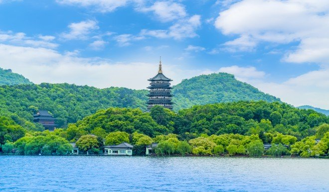 'Clean waters and green mountains' in the city of Hangzhou, in Zhejiang province.