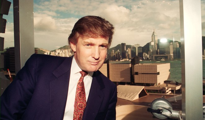 Trump was photographed in Hong Kong in 1993.