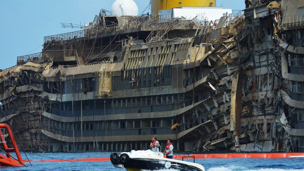 Inside Costa Concordia Upright