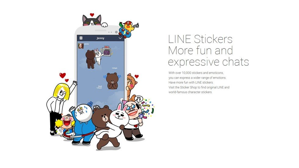 Japanese firm line launches selfie sticker iphone app