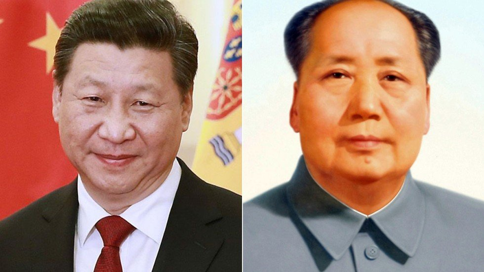 Image result for xi and mao