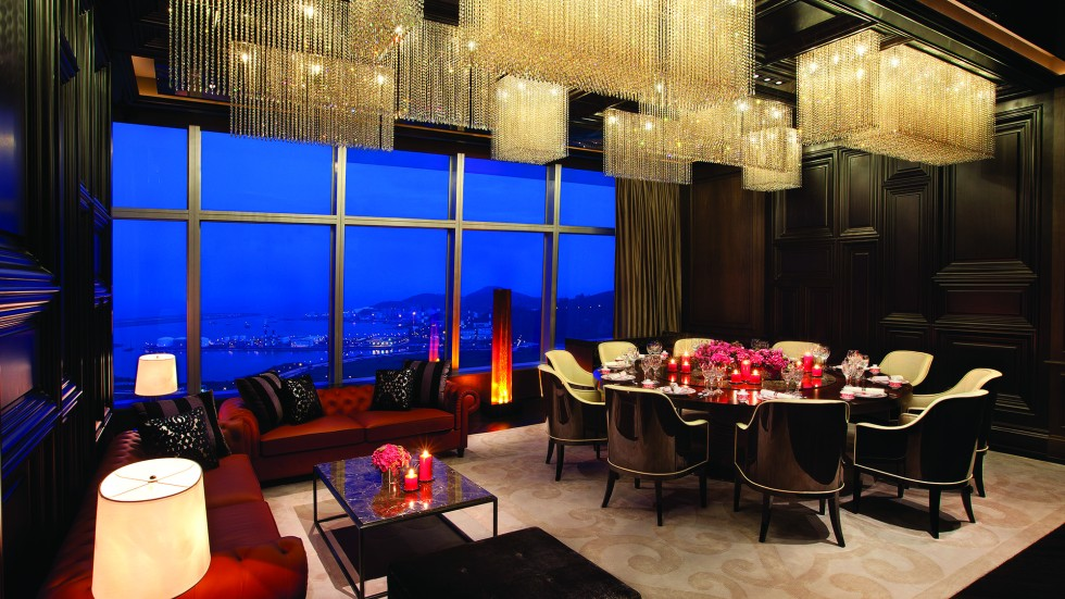 One of four vip dining rooms at the grand club
