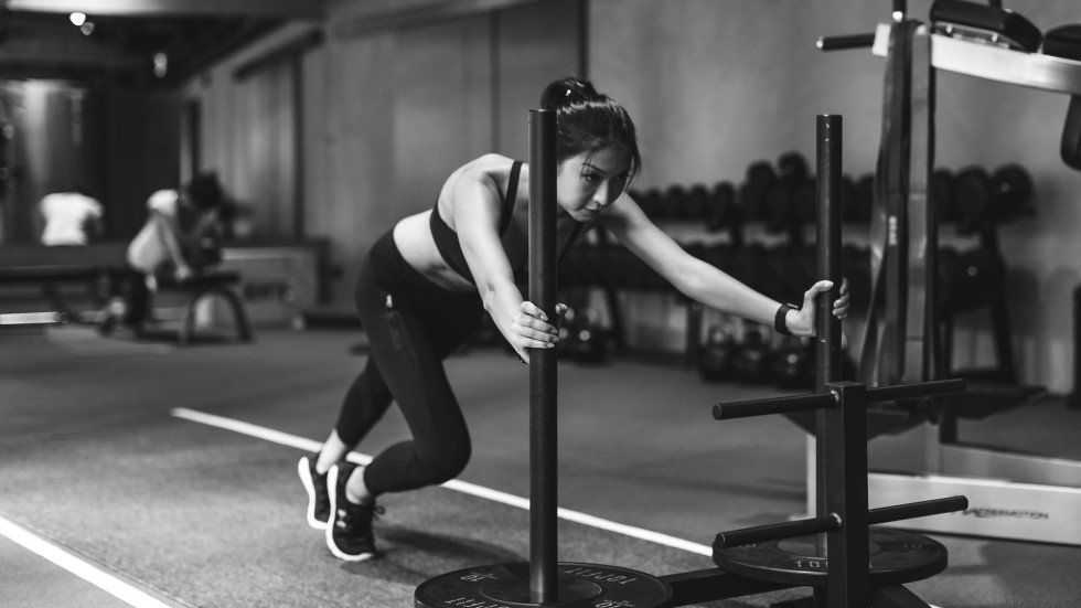 A Woman Works Out Using The Prowler At Top Fit Photo Supplied