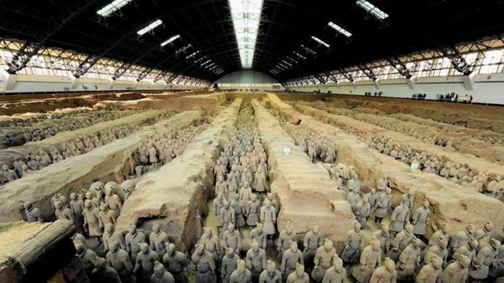 Image result for Damage to a terracotta soldier in the US causes malaise in China