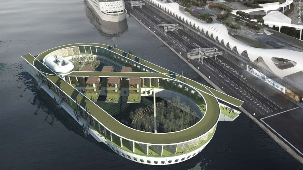 Hong kong s floating columbarium cruise ship with hotel for Hk architecture firm