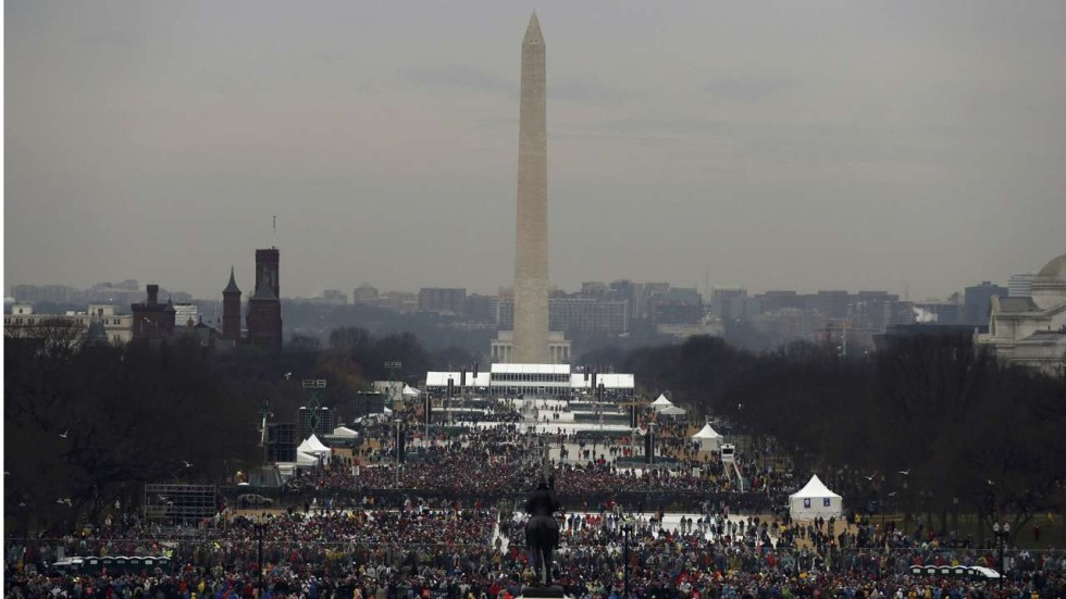 The crowd at Trump's big day looked much smaller than ...