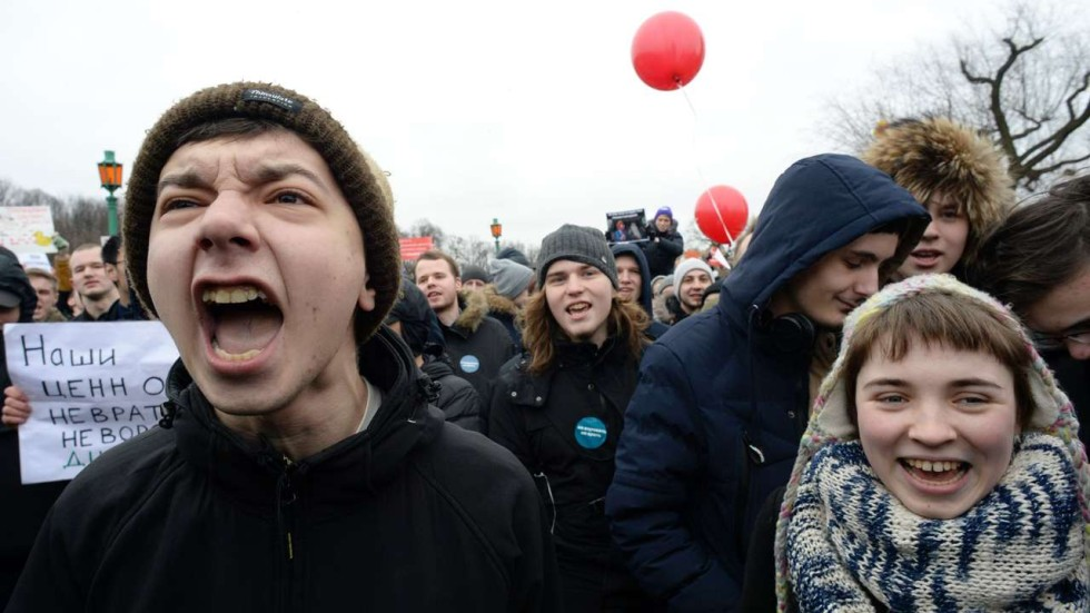 a generation of russians born under putin flocks to protests and