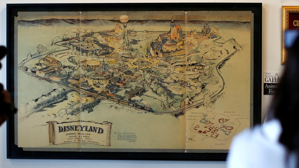 Walt Disney Commissioned Handdrawn Map Of Disneyland Sold For US - Us map 1905