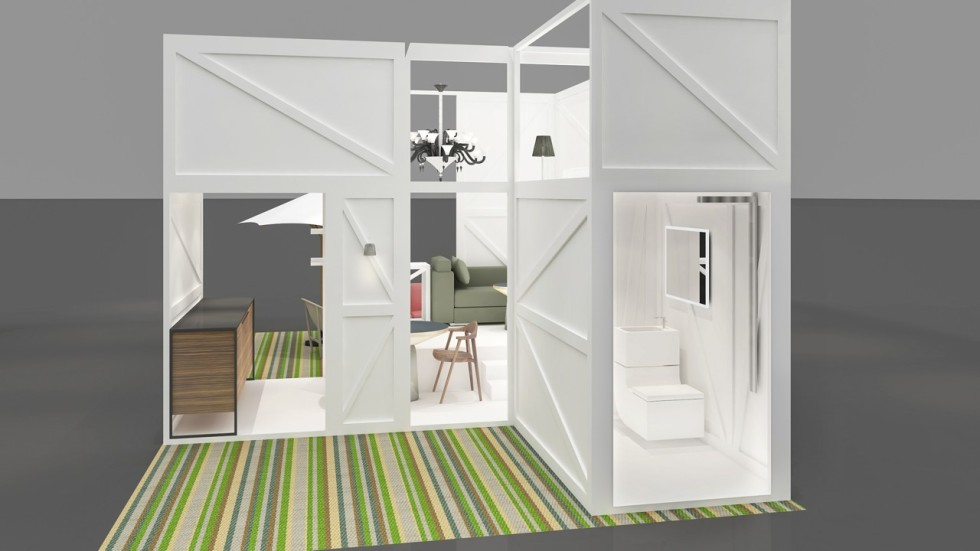 Worlds Smallest Fully Equipped Nano Flat Design On Show In Hong Kong Two Bedrooms Bathroom