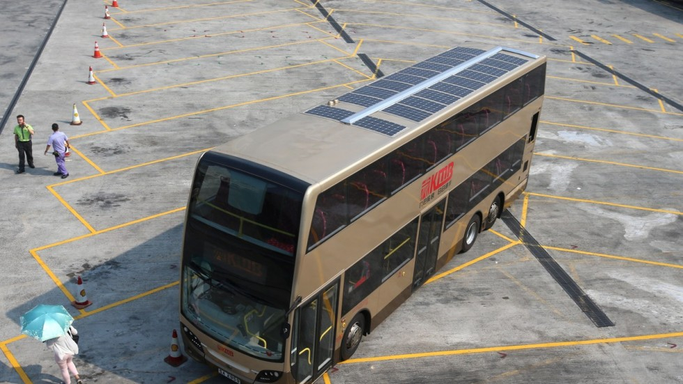 Hong Kong S Kmb Unveils Bus With Solar Panels To Power