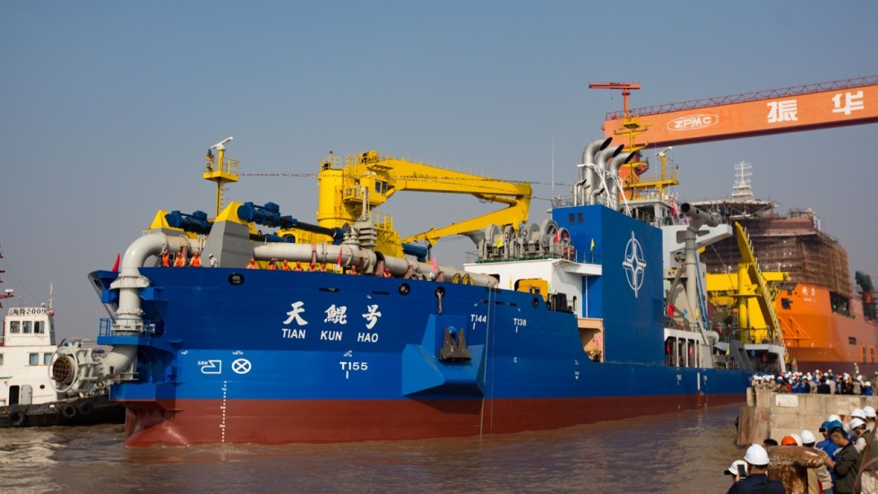Image result for new chinese island maker ship