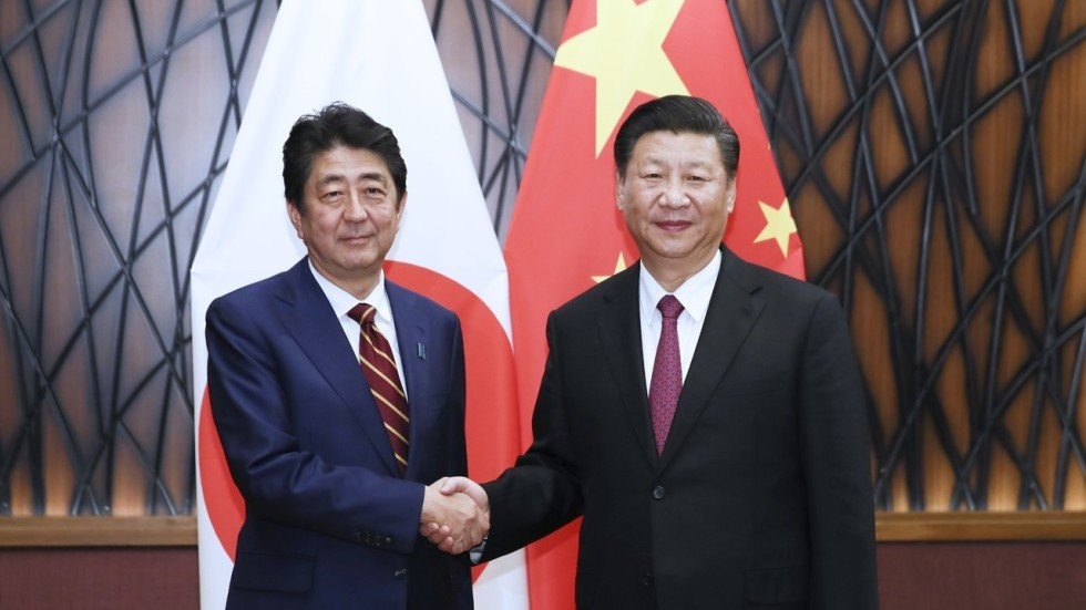 Image result for Shinzo Abe backs BRI with China