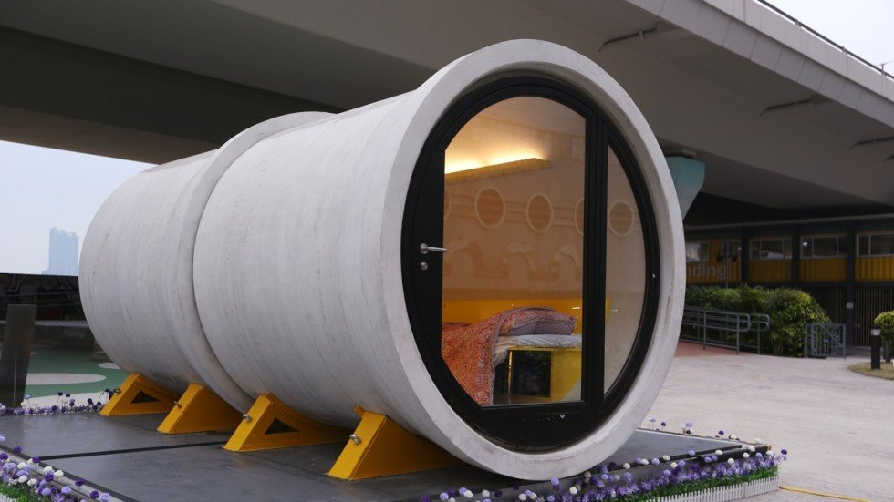 My Night In A Tube Home Low Cost Housing Concept For Hong Kong