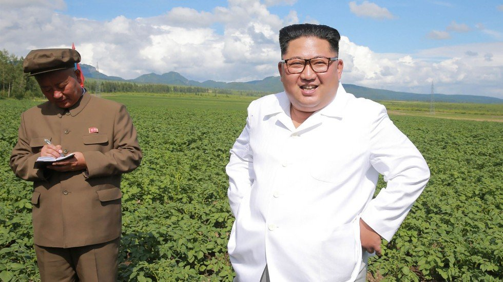 Image result for kim jong un on potato farm