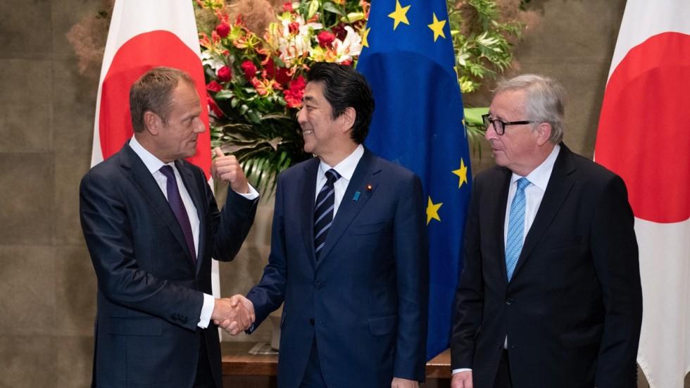 Japan And Eu Sign Biggest Trade Deal As Donald Trump Puts Up