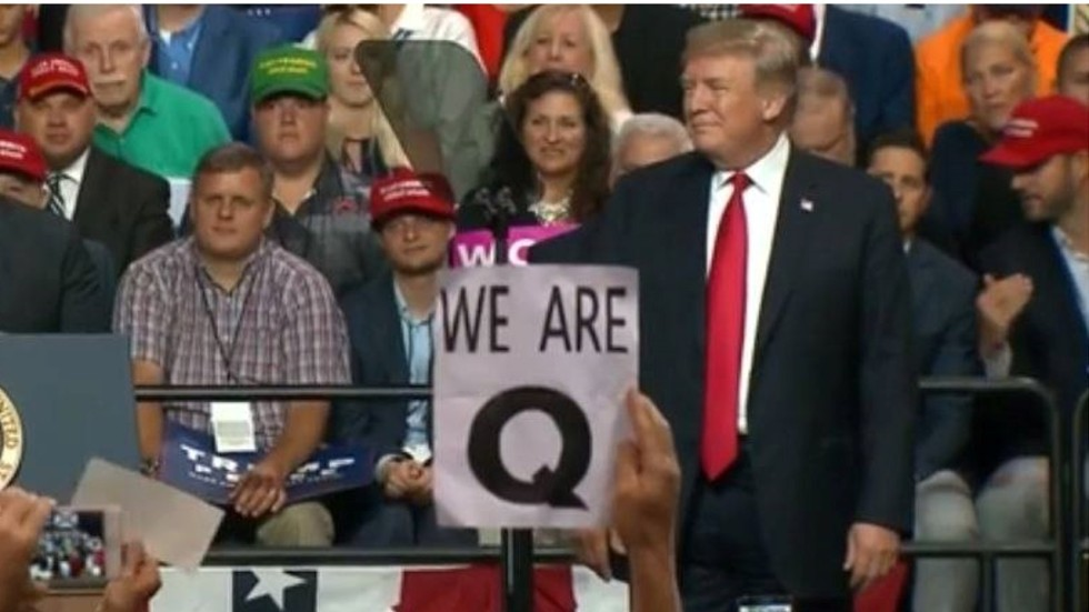 Image result for q anon and trump