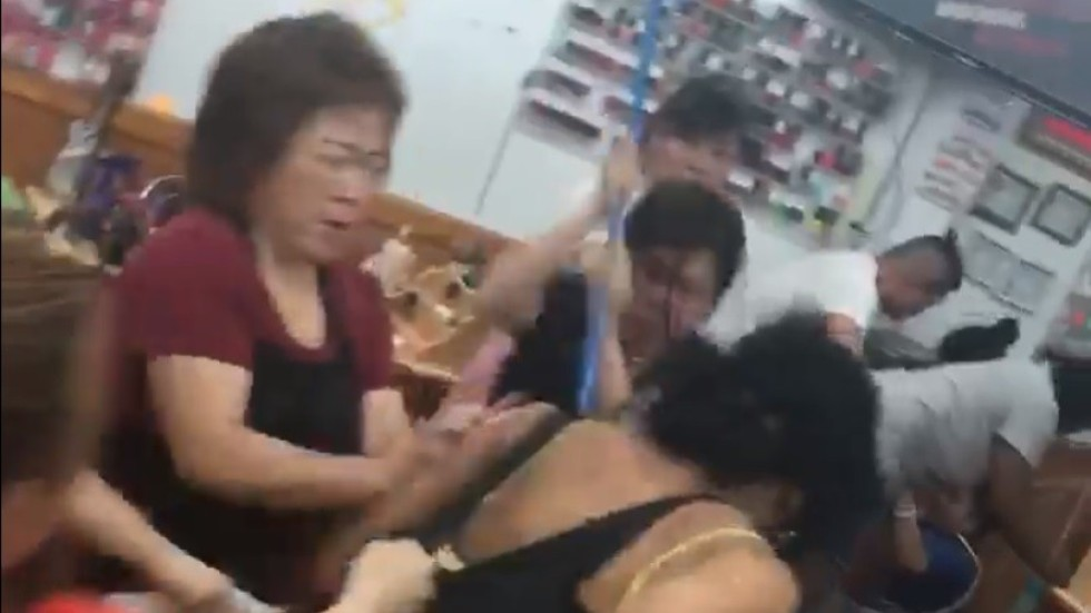 Brawl over botched US$5 eyebrow wax at Asian-owned nail salon in ...