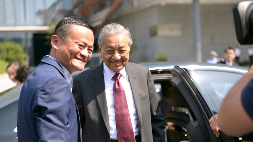 Image result for Malaysia's Mahathir and Xi