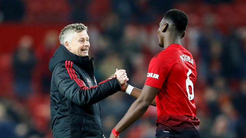 Image result for Ole Gunnar Solskjaer with Paul Pogba