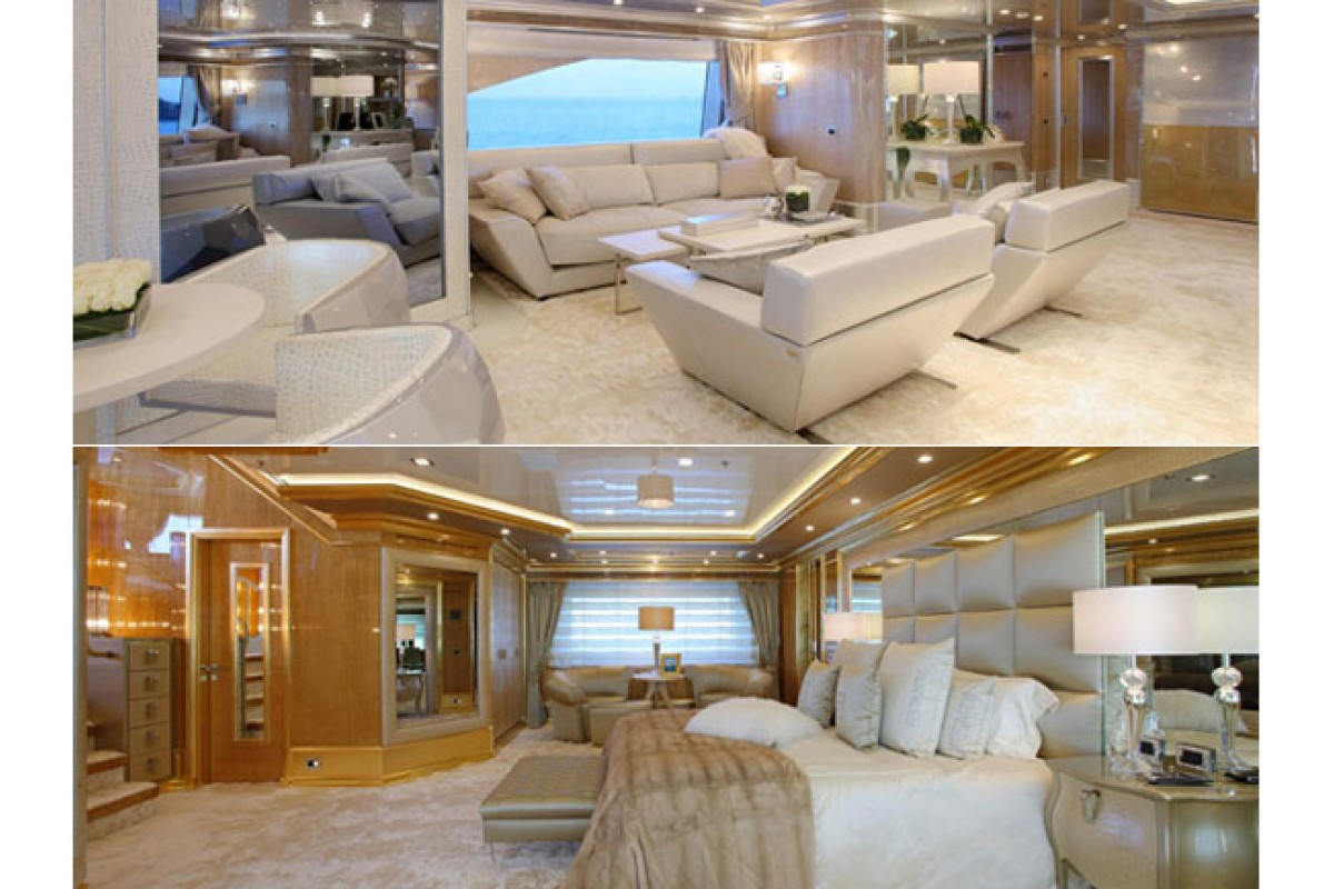 Benetti and Fendi Casa collaborated to produce Lady Lara, a 194-foot custom megayacht. Yacht buyers from the mainland prefer those with interiors by luxury brands, says Sunseeker Asia chairman Gordon Hui.