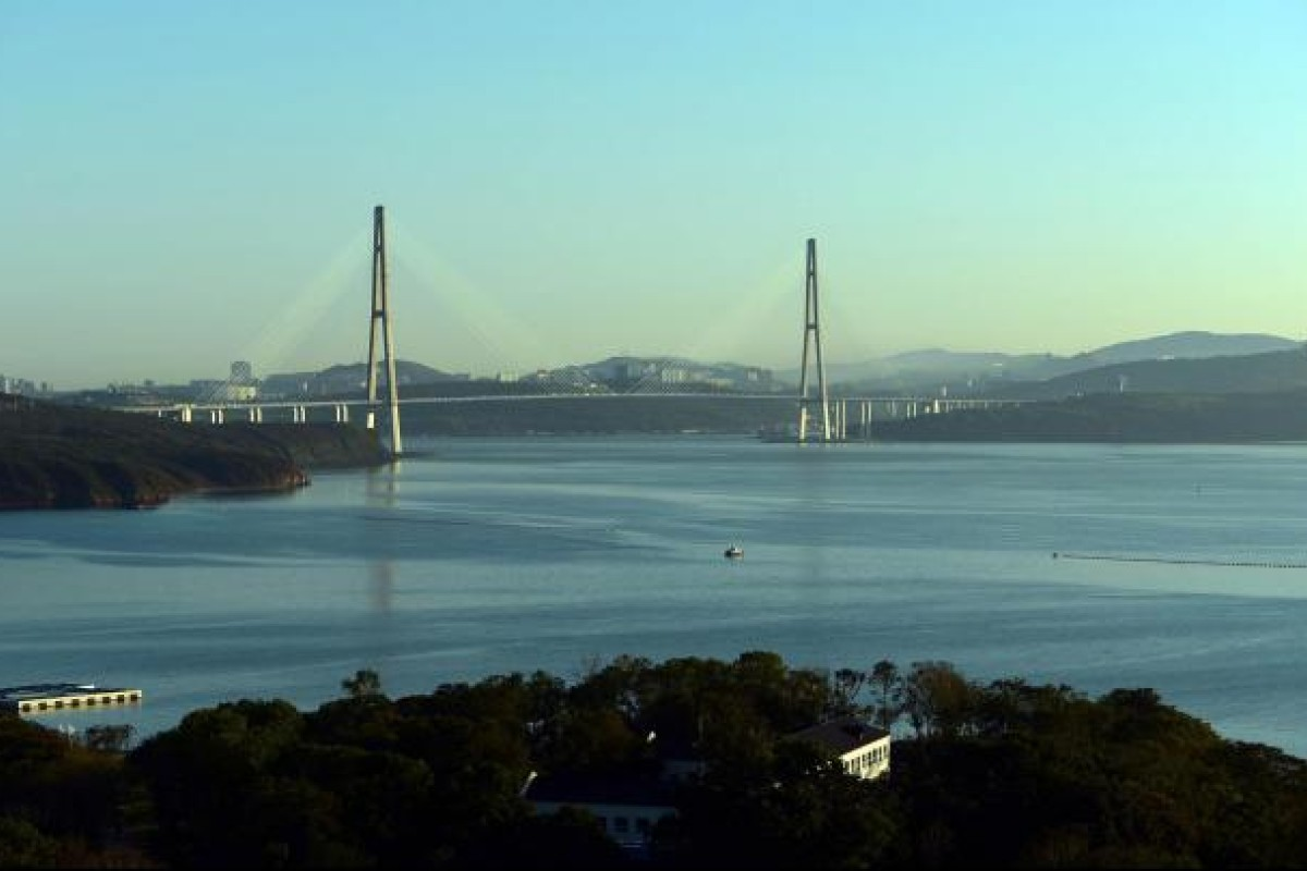 The bridge connecting Russky Island to Vladivostok. Photo: AFP
