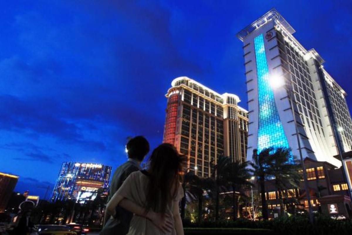The new Sheraton Hotel on the Cotai Strip.