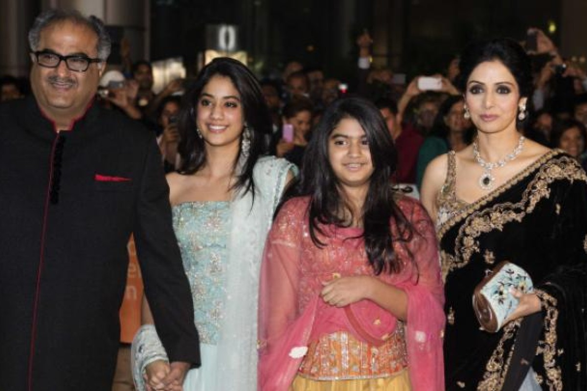 Sridevi arrives with her husband and daughters for the premiere ofEnglish Vinglishat the Toronto International Film Festival on September 14. Photo: Reuters