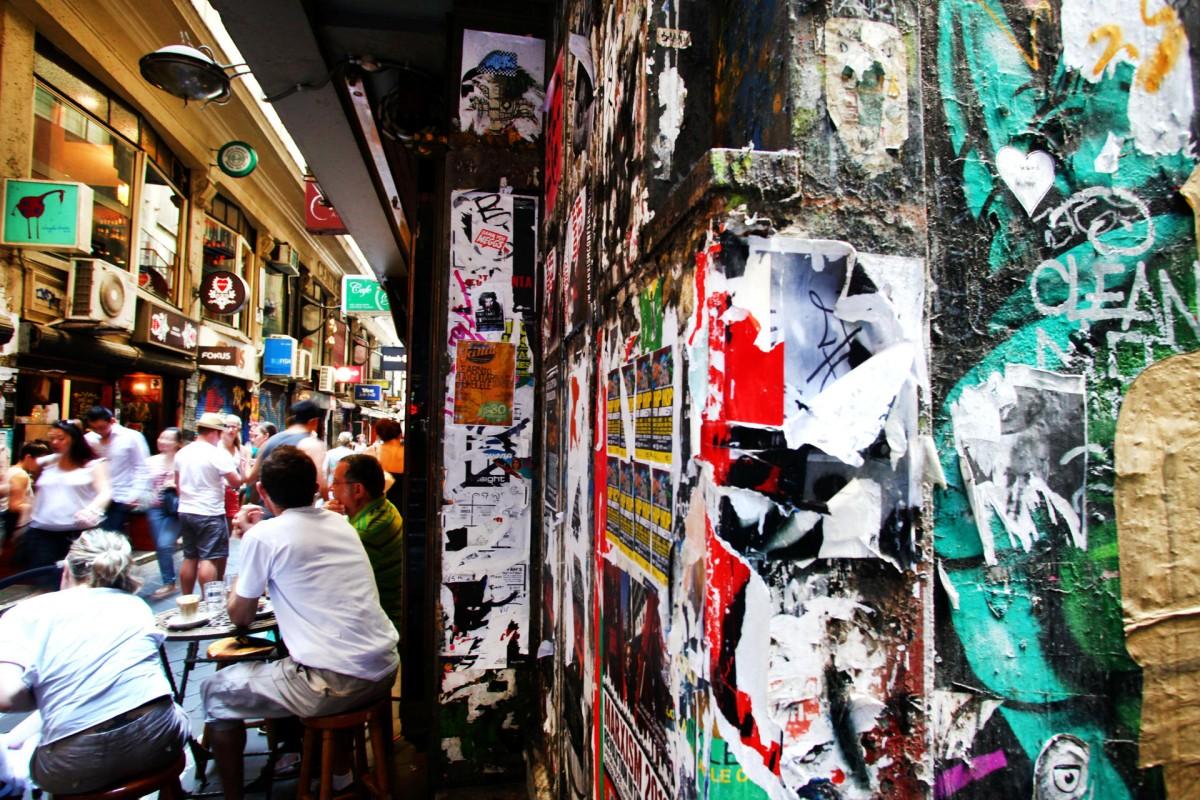 The city's alleyways teem with al-fresco eateries.