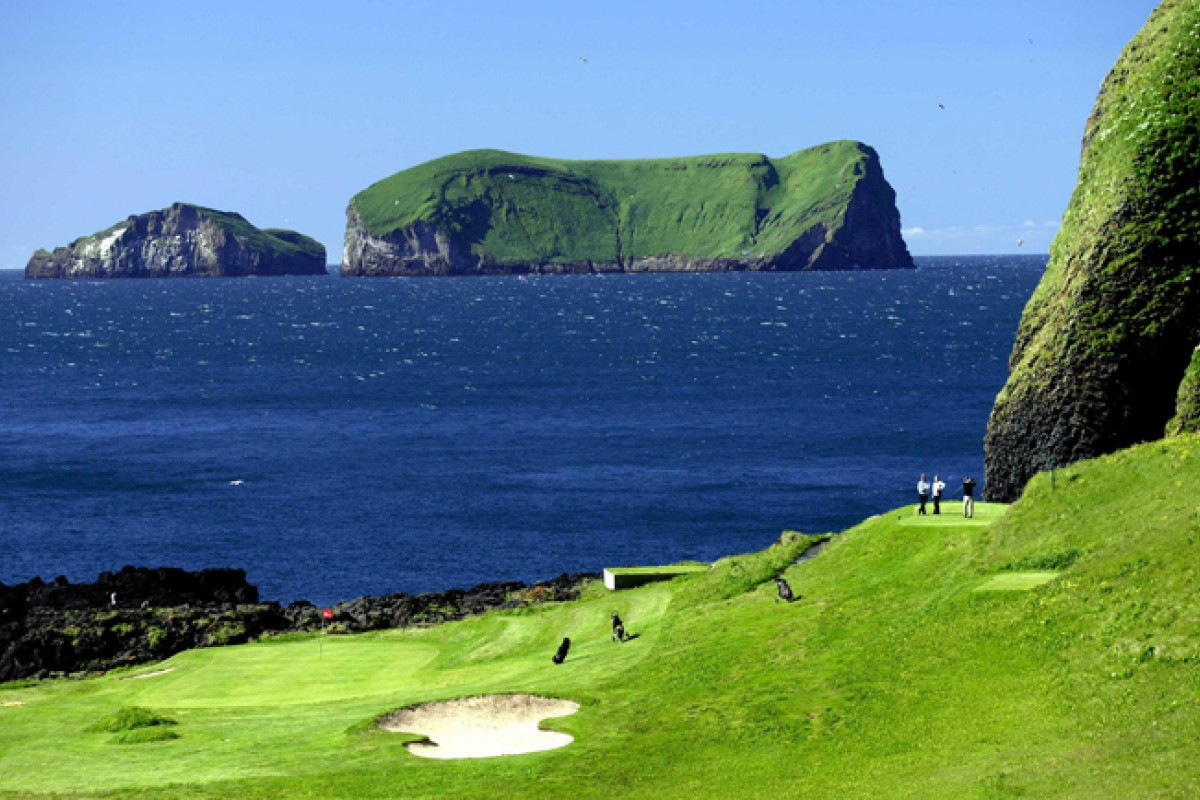 The Westman Island golf course.