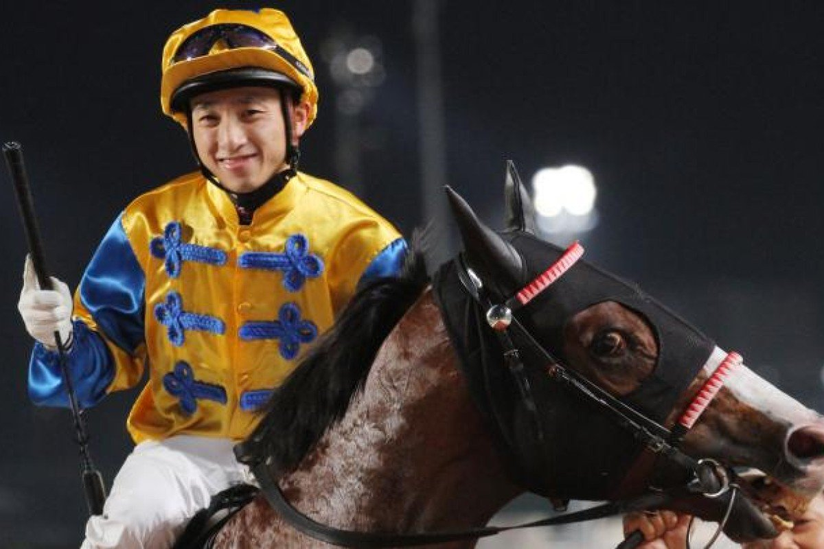 Dicky Lui Cheuk-yin is making a habit of winning the last race on the card at Sha Tin. Photo: Kenneth Chan