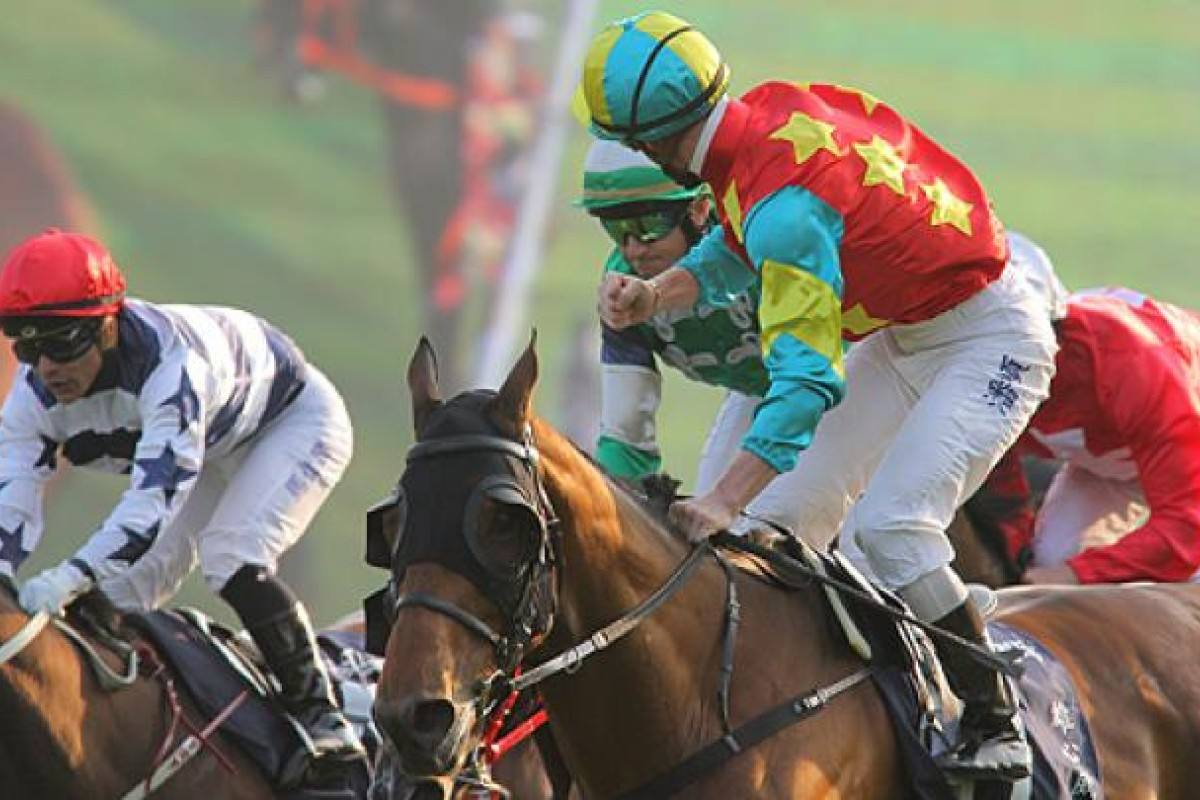 Chief stipe Kim Kelly and his fun police have outlawed the finger pointing. Above, Zac Purton, who won the Hong Kong Mile on Sunday, waves a few fingers in Douglas Whyte's direction. Photo: Kenneth Chan