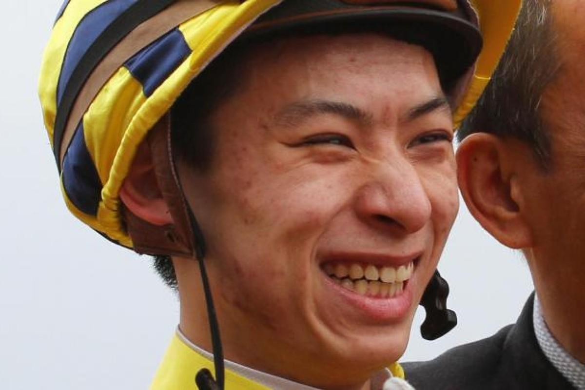 Matthew Chadwick celebrates his double. Photo: Kenneth Chan