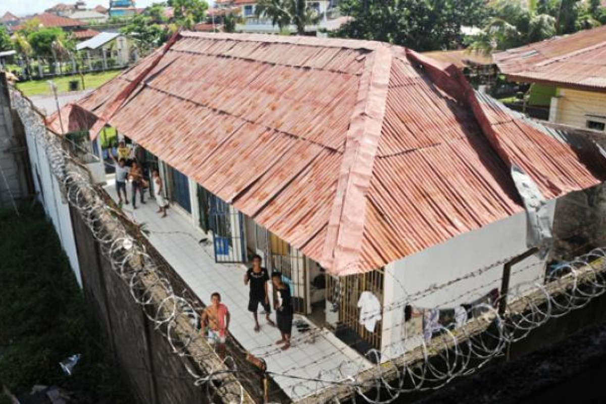 A men's cell block at Kerobokan Prison, Bali. Conditions are austere and overcrowded - at least for those without money.