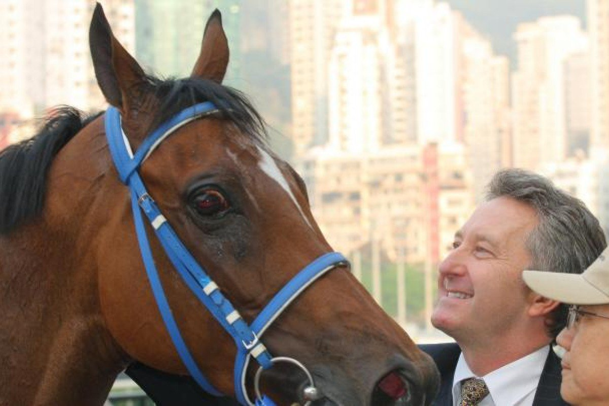 David Ferraris enjoys his moment in the sun with impressive Imperial Rome, who has produced three wins for the trainer - lying 21 in the standings with 10 victories. Photo: Kenneth Chan