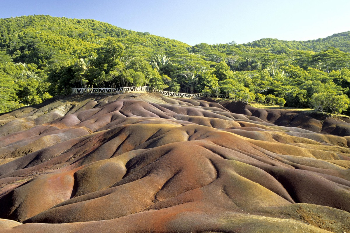 The Seven Coloured Earths in Chamarel. Photos: Jean-Christophe Laurence; Corbis