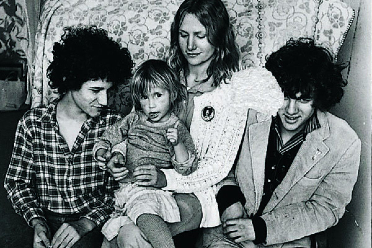 Agnès Troublé with her twin sons, Nicolas (left) and Etienne, and daughter Ariane Michel, in the mid-1970s.