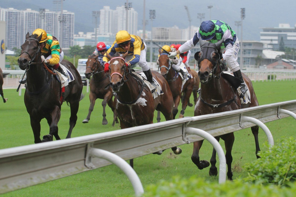Ben So Tik-hung turns enforcer to get Pure Force home in the second race for Peter Ng.
