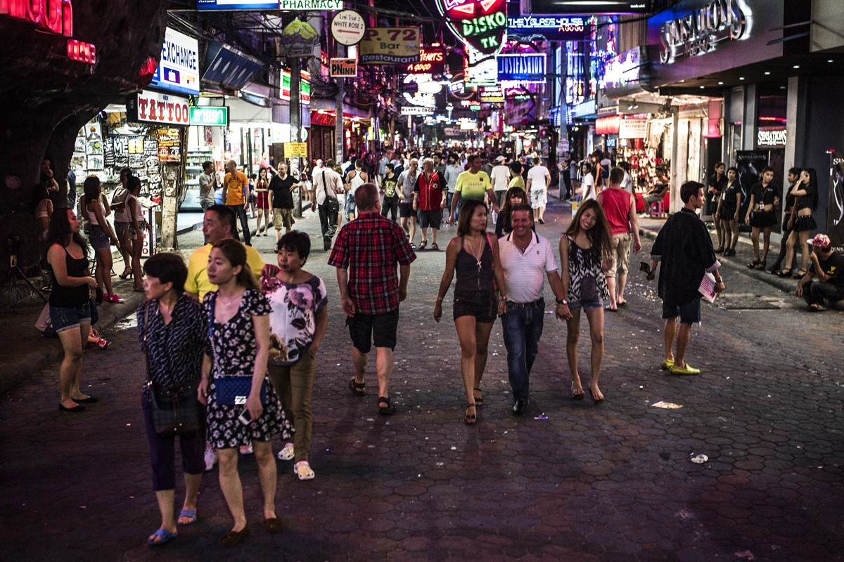 Walking Street, an area in Pattaya that's known for its go-go bars and nightclubs.